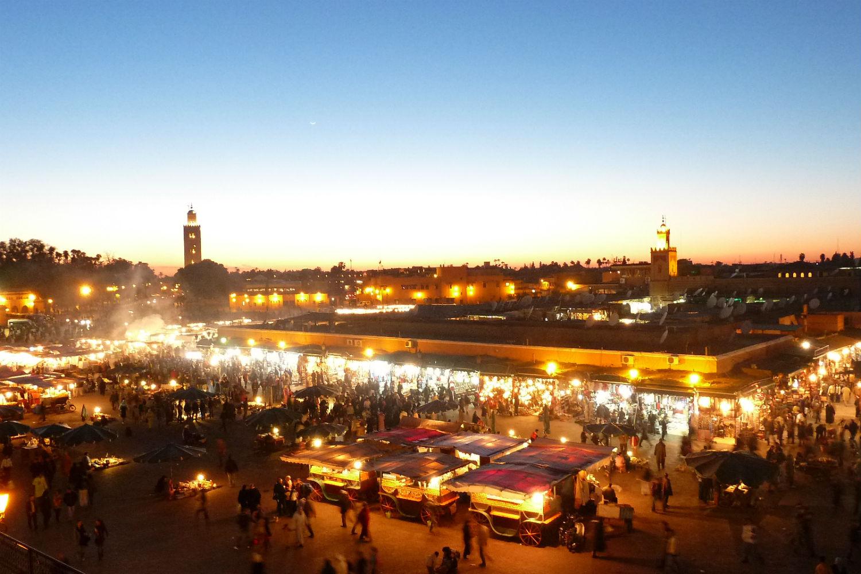 Plaza Fnaa en Marrakech