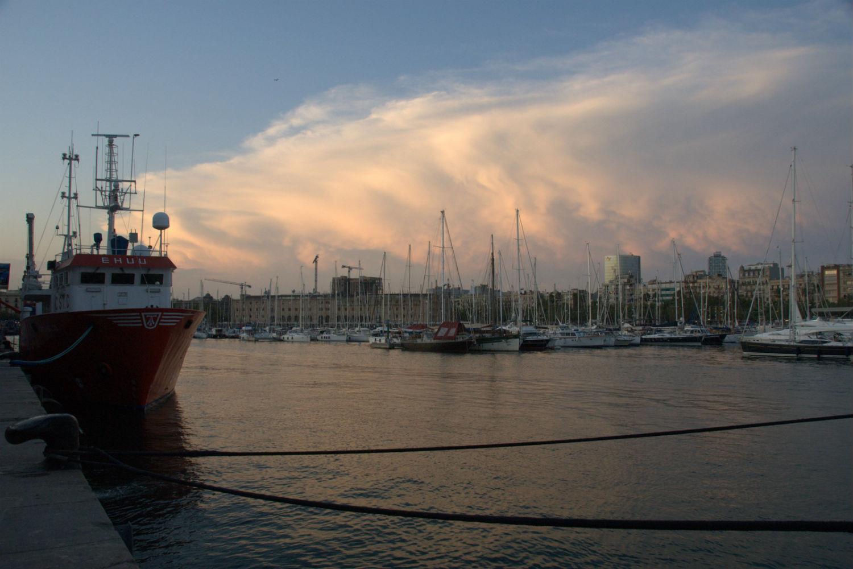 La Barceloneta atardecer