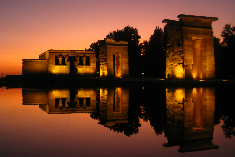 Atardecer Templo del Debod Madrid