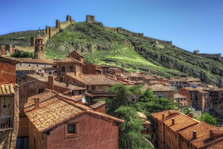 Pueblo con cuestas Albarracín