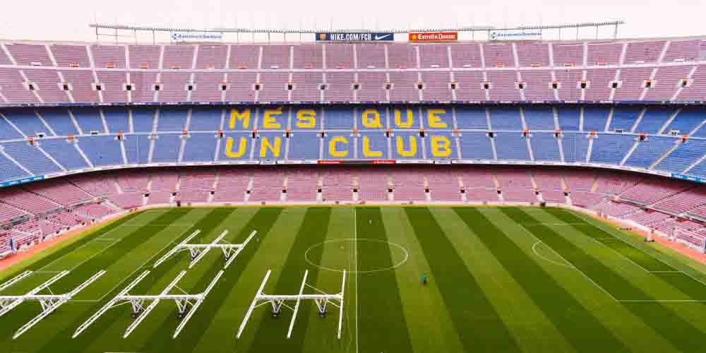 Vista del estadio Camp Nou.