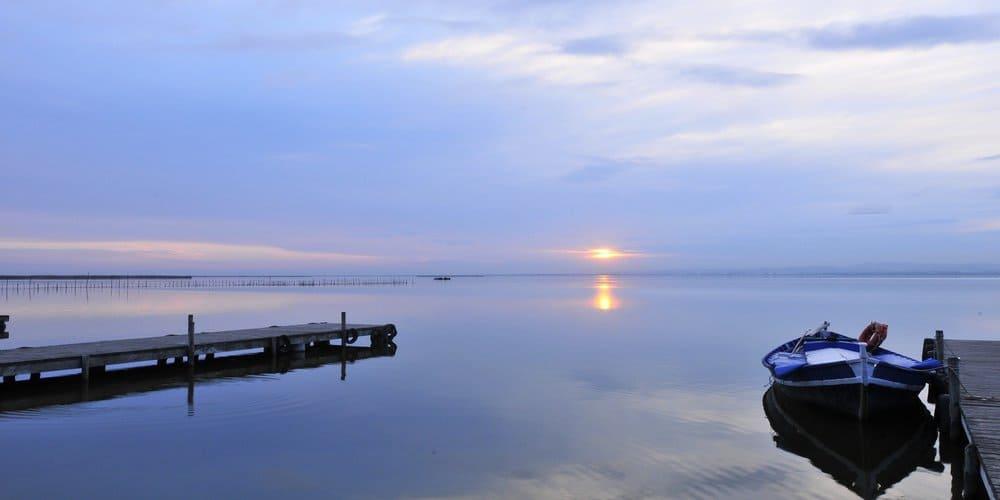 Vista del lago de la albufera