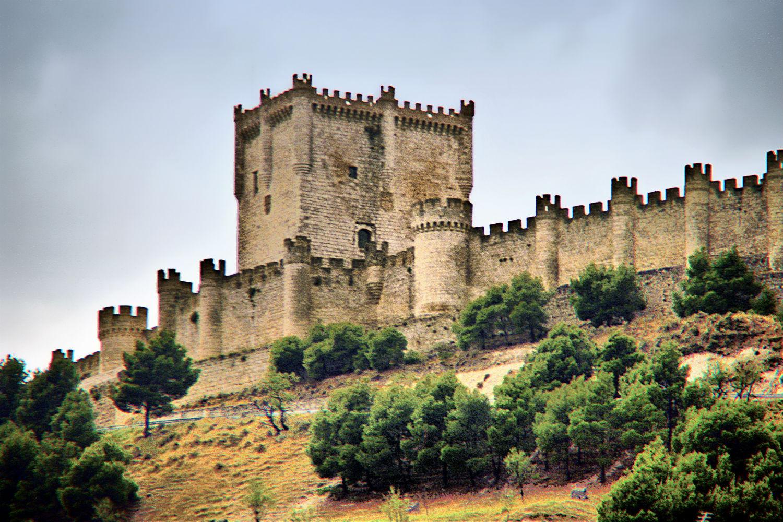Castillo de Peñafiel con niños
