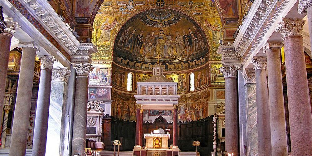 El Barrio del Trastévere - Basílica de Santa María
