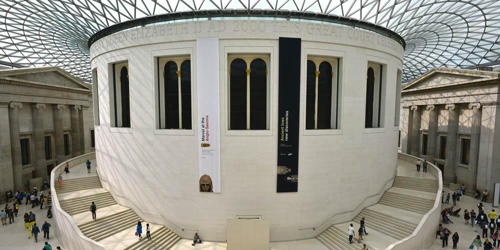 El Museo Británico destaca por su arquitectura, además de por las obras que alberga.