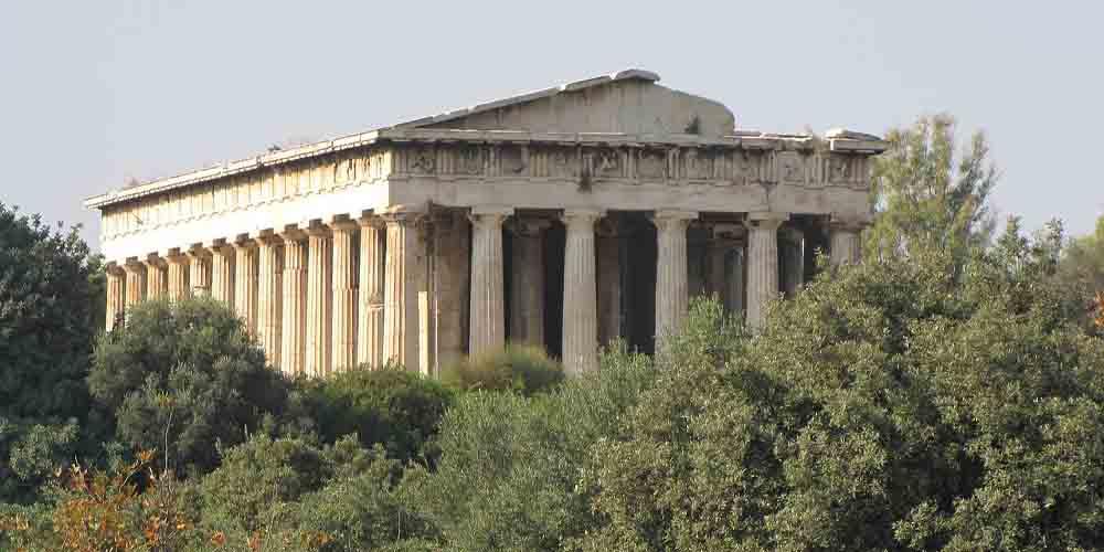 El Hefestión, un templo que ver en el Ágora de Atenas.