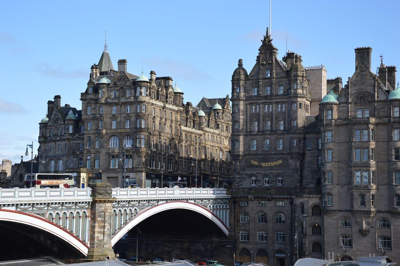 Vista de la Ciudad Vieja de Edimburgo