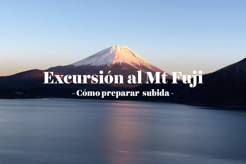 Cómo preparar la excursión al Monte Fuji