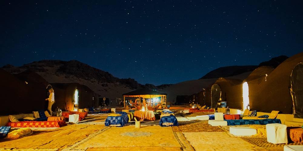 Dormir en el desierto de Marruecos: campamento bereber