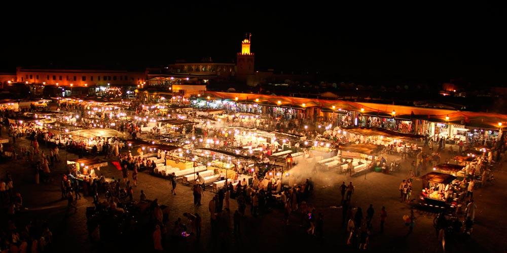 La Medina de Marrakech: Plaza de Jemaa el Fna