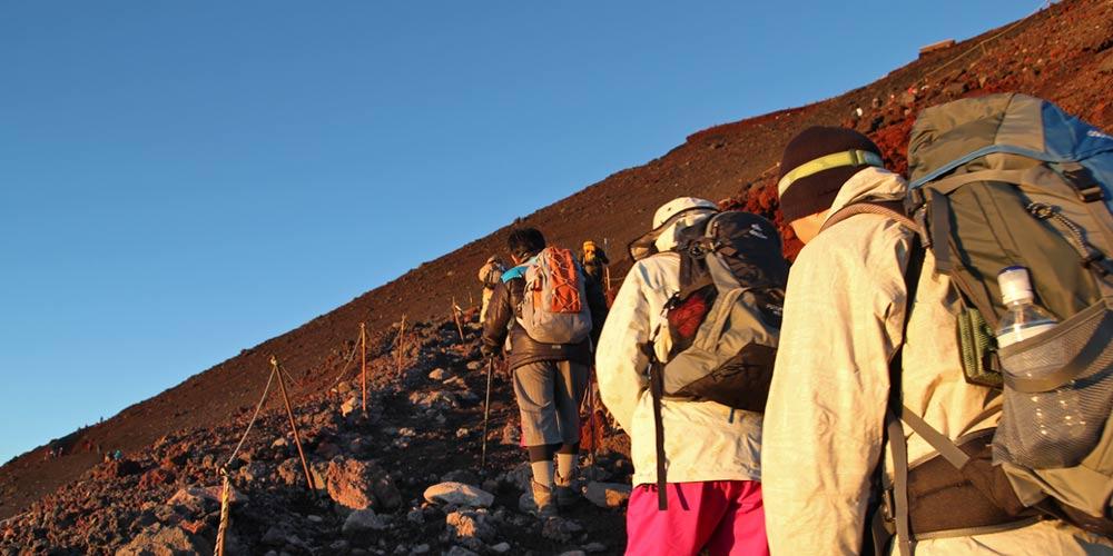 Dormir en el Monte Fuji: Subir a la cima