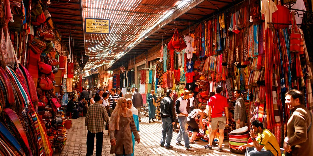 Excursión por el zoco de marrakech