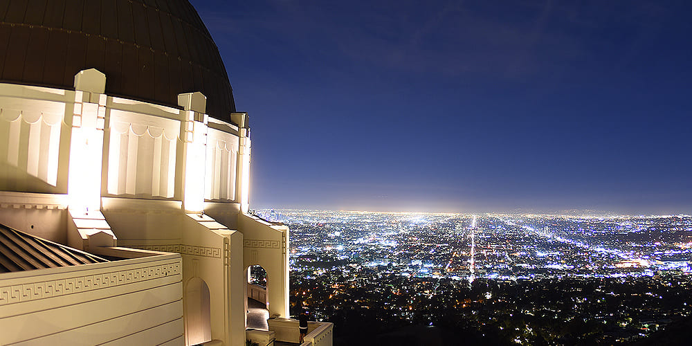 Descubre las vistas espectaculares desde el observatorio Griffith en los Angeles.