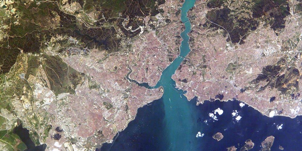 Mapa marcado con que ver y que hacer en Estambul