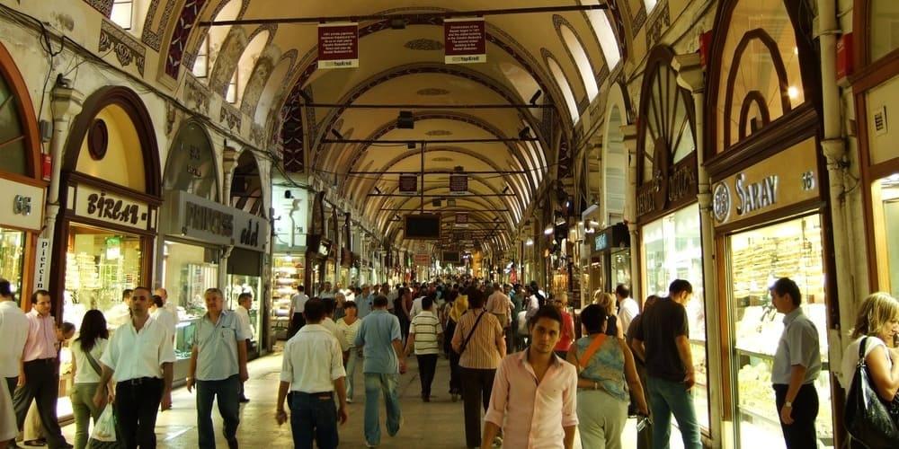 Interior del Gran Bazar de Estambul