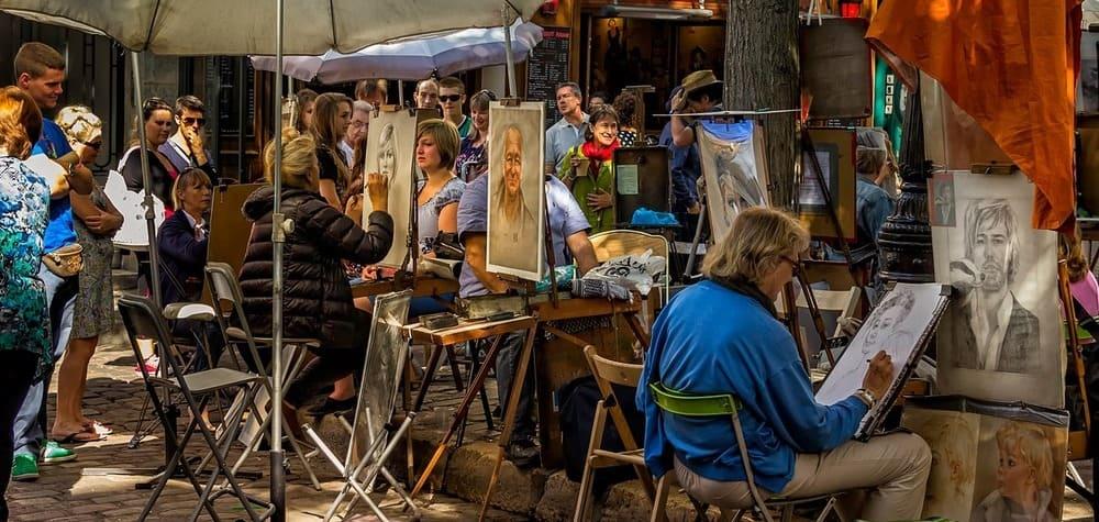 Place du Tertre en Montmartre