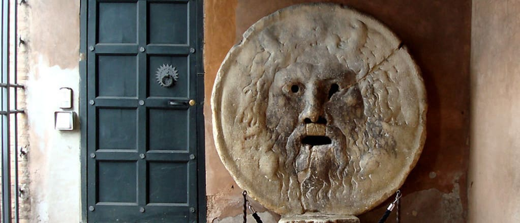 La boca de la Verdad, aparece en la película Vacaciones en Roma