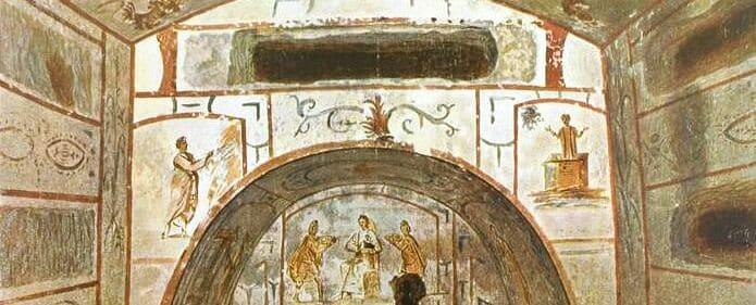 Pinturas en las Catacumbas de Roma, sigue leyendo para descubrir qué ver en Roma.