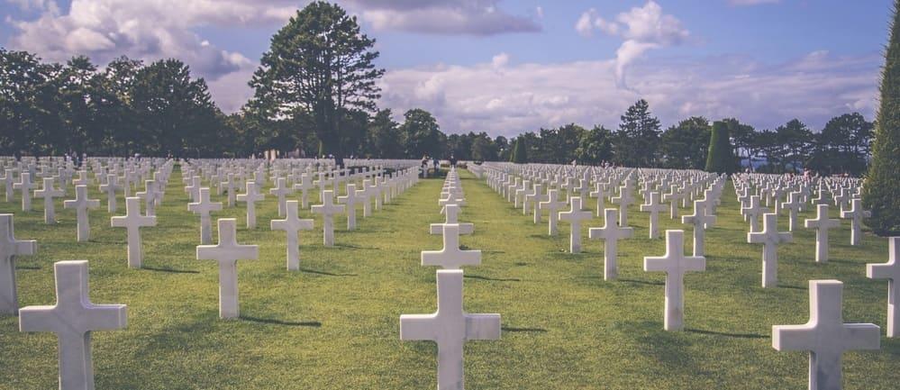 Cementerio Estadounidense de Normandía en una visita desde París