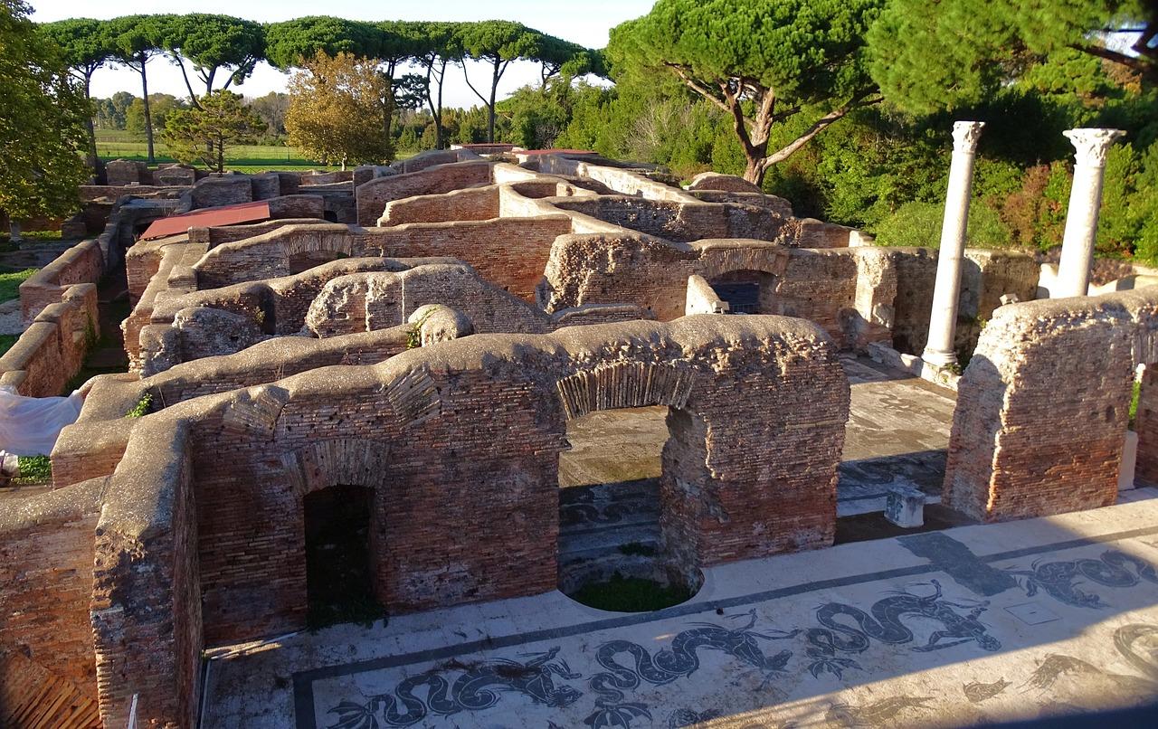 Imagen de los yacimientos mejor conservados de Ostia Antica