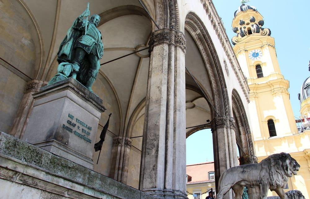 Odeonsplatz, lugar del Putsch de Munich