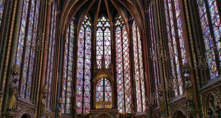 Iglesia Sainte Chapelle en París