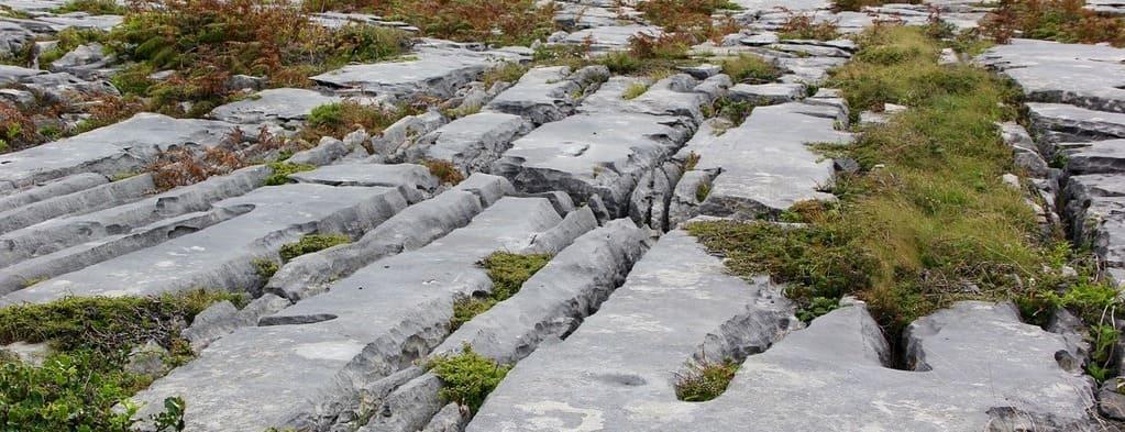 Imagen de las gritas del suelo en el Parque Nacional de Burren