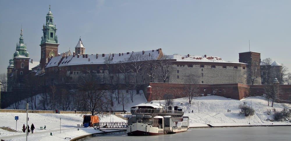 Castillo de Wawel nevado