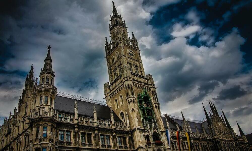 Ayuntamiento de Munich en la Marienplatz