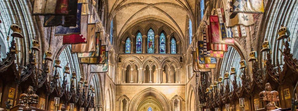 Qué ver en Dublín: Interior de la catedral de San Patricio.