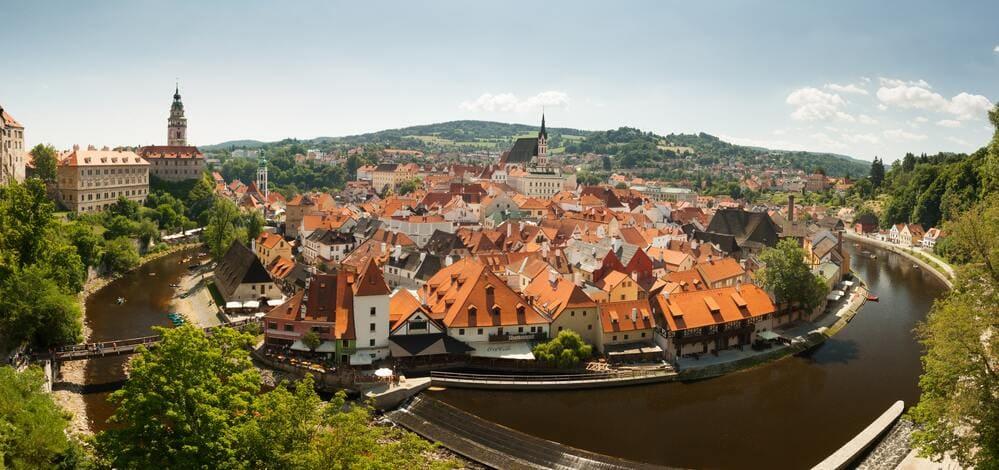 Vista desde arriba de Cesky Krumlov