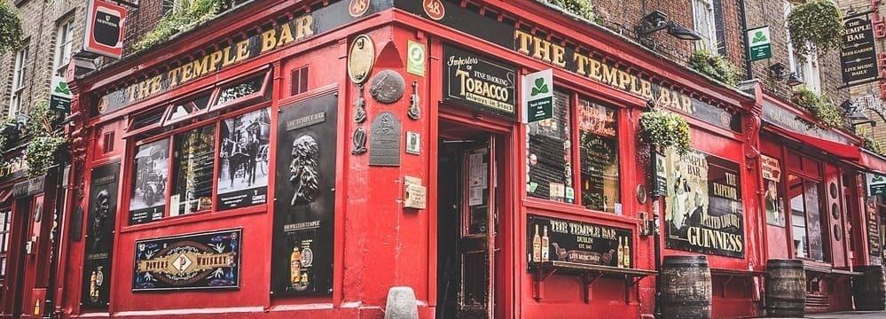 """Fotografía del pub """"The Temple Bar""""."""