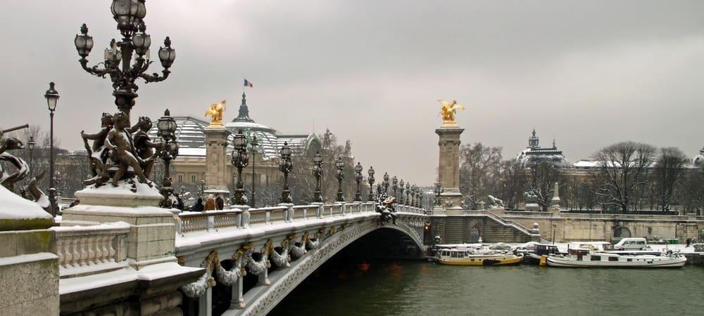 Puente Alfonso XIII nevado