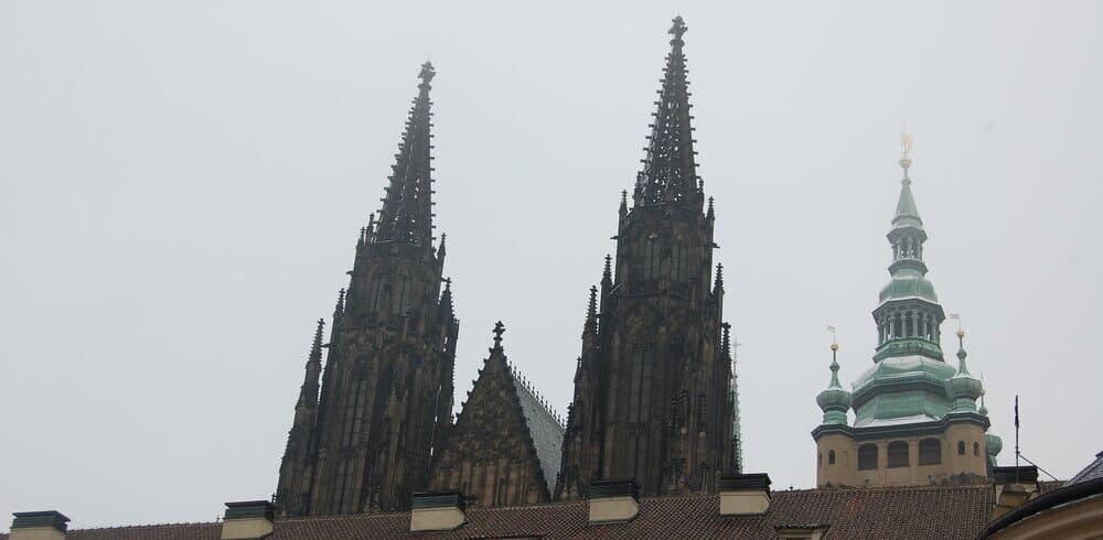 La Catedral de San Vito en invierno