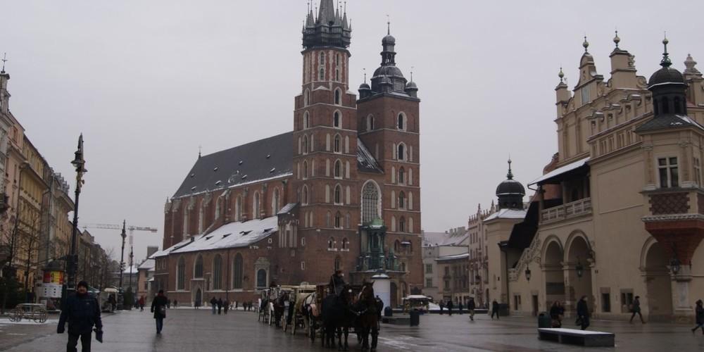 Clima y temperatura en Cracovia en enero