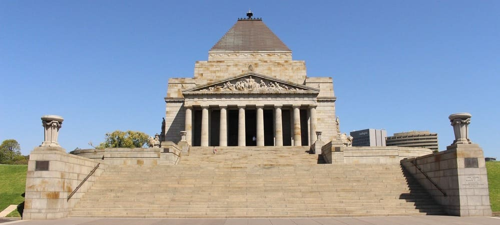 Monumento a los caídos Shrine of Remembrance, Melbourne.