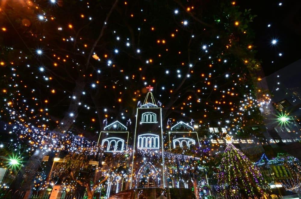 Espectáculo de luces de navidad en Praga