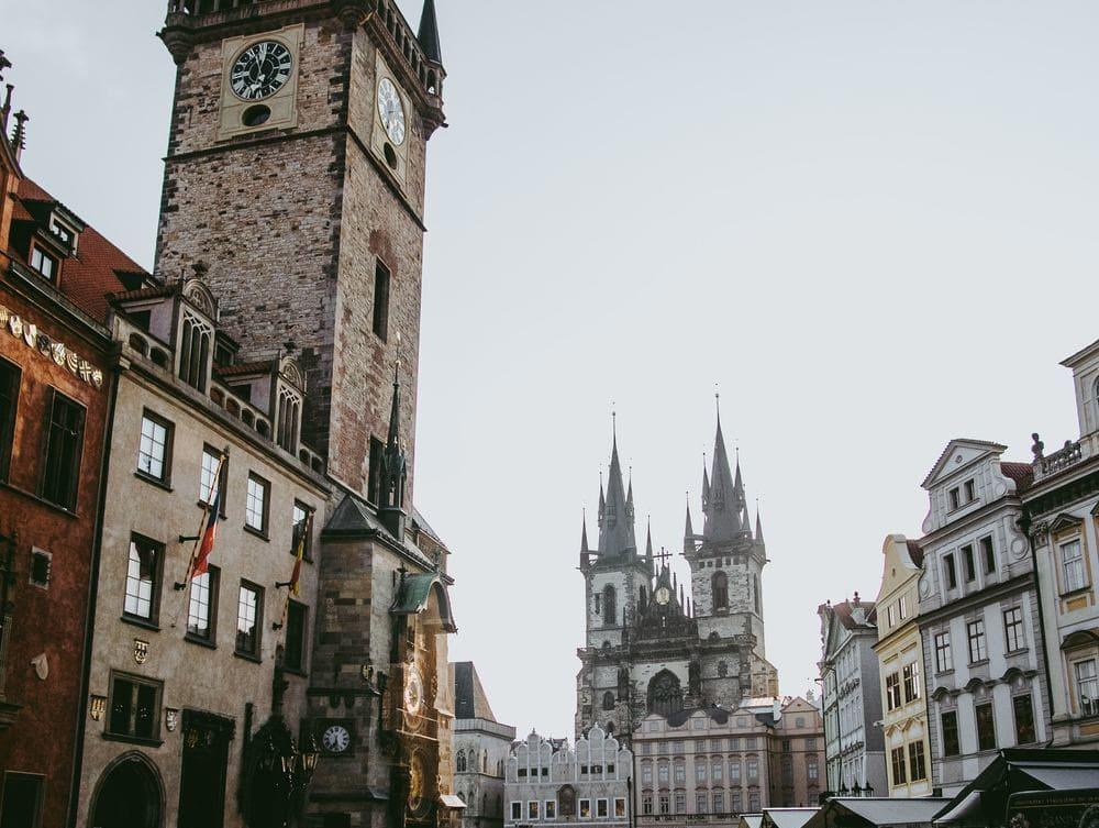Vista de la Plaza de la Ciudad Vieja, en Praga