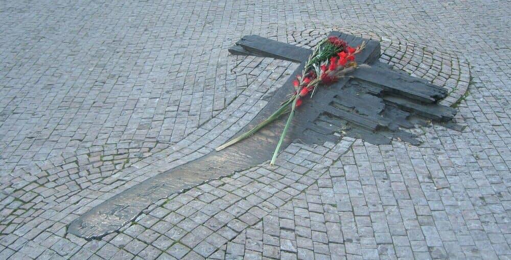 Monumento a Jan Palach, símbolo de la Primavera de Praga