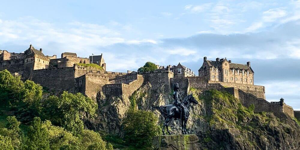 Panorámica del Castillo de Edimburgo.