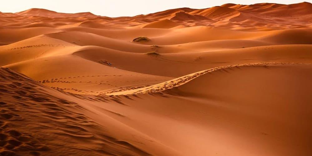 Tiempo y temperatura en el desierto de Merzouga en Marruecos