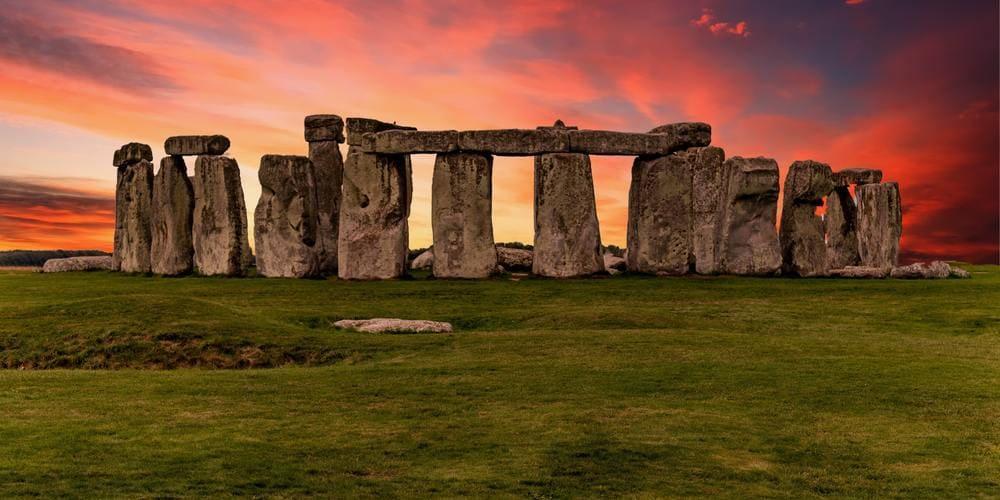 El atardecer enmarcado por Stonehenge.