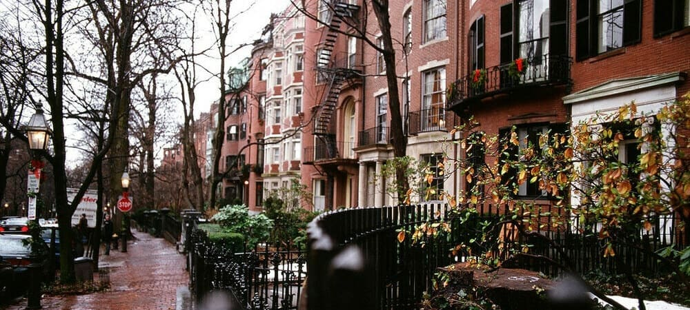 Imagen del barrio de Beacon Hill en Boston desde New York