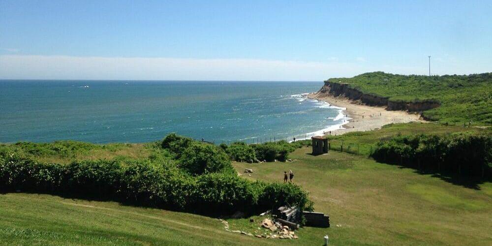 Vista panorámica de la costa de los Hamptons.