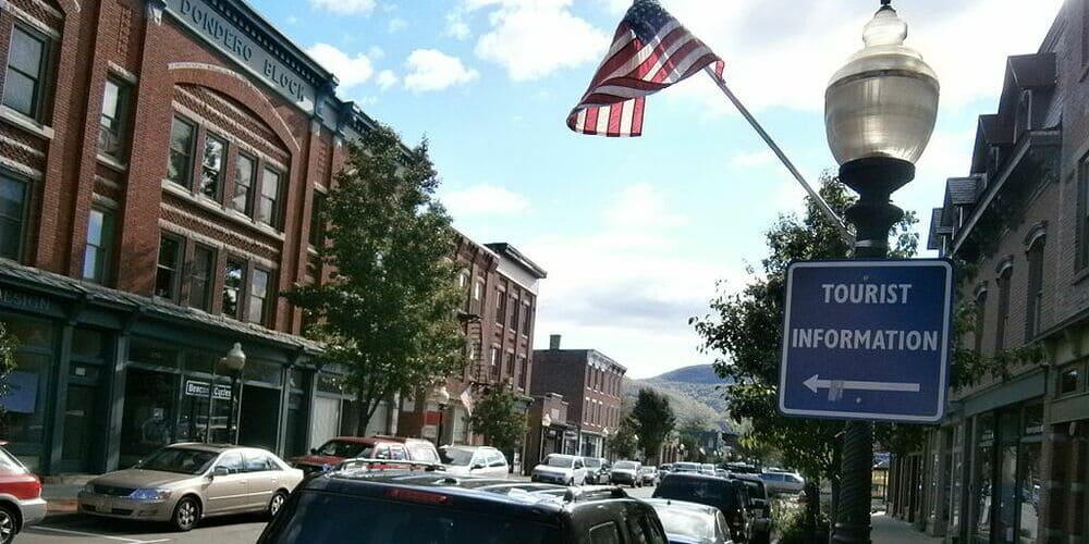 Vista de las calles de Beacon en el Hudson Valley.