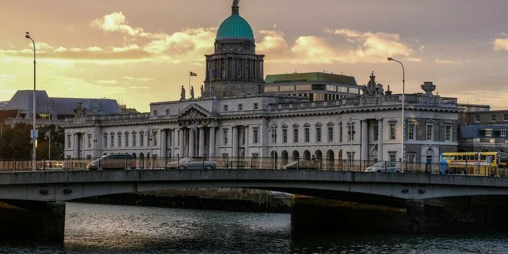 Vista del río Liffey en Dublín.