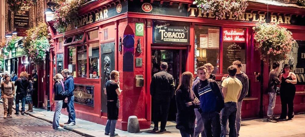Zona de The Temple Bar, no te pierdas el tiempo, clima y temperatura en Dublín en Diciembre