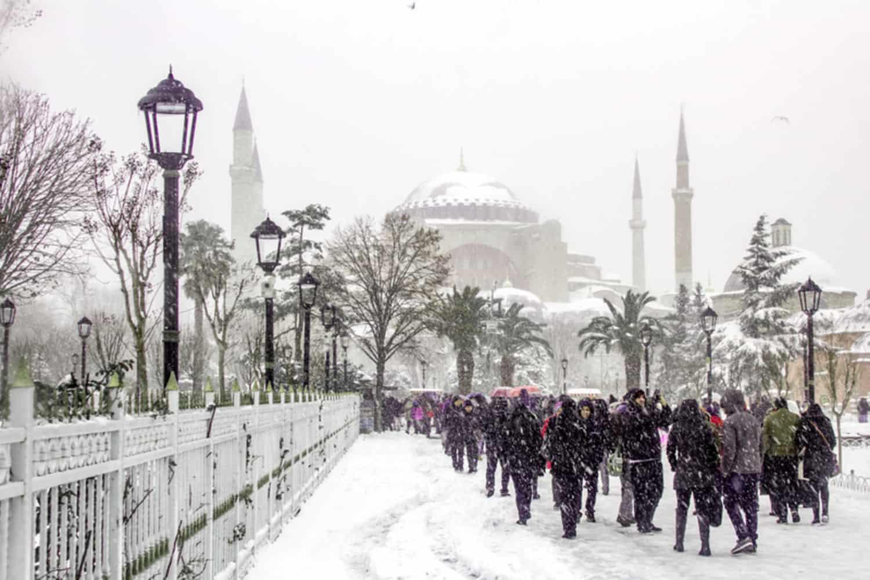 Tiempo, clima y temperatura en Estambul en enero