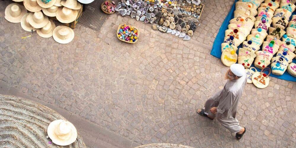 Vista aérea de la Medina en Marrakech en Enero