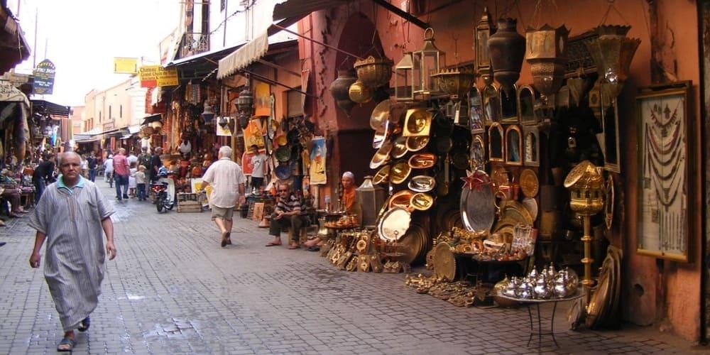 El tiempo y la temperatura en Marrakech en febrero